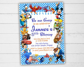 Disney invitation Etsy
