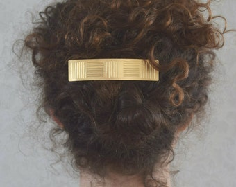 Barrette, Hair accessories, Hair clip, Hair barrette women, Hair barrette gold, French hair barrette, Hair Jewelry, Pony tail holder