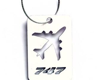 Former Lufthansa B747 Fuselage Luggage Tag