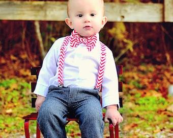 Boys Bowtie, Boys Bow Tie, Holiday bowtie, Bowtie Suspender Set, Boys Bowties, Red Bow Ties, Wedding BowTie, Bowtie
