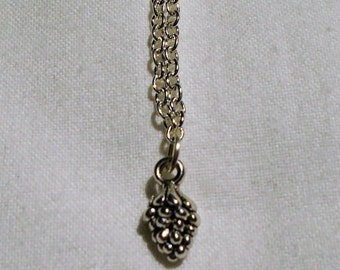 Dainty Silver Pinecone Necklace