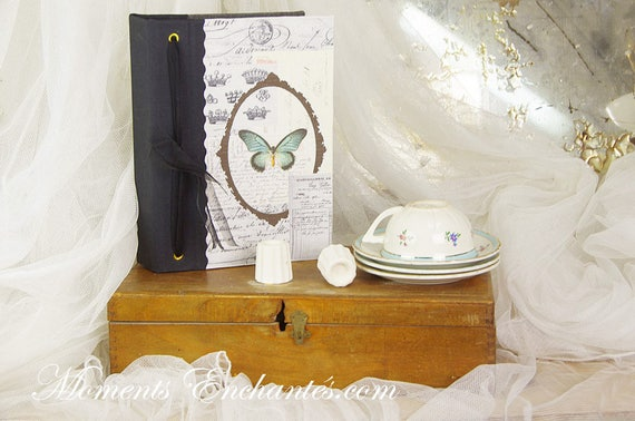 Telephone book swallow  vintage shabby chic