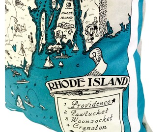 Rhode Island Pillow Cover with Insert