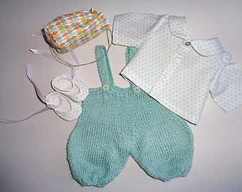 Set for doll 30 cm, bloomers, shirt, shoes backpack