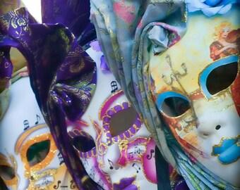 Italy photography - Shakespeare's Masquerade - Venice, Italy - Fine art travel photography - jewel tones - 8x8 or 8x10