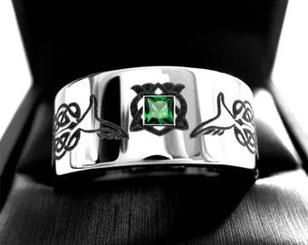 Claddagh  Wedding Bands, Celtic Wedding Band, Men's Women Celtic Ring, His Her Promise Ring, Claddagh Rings, Celtic Jewelry, Wedding Rings