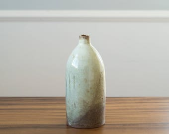 Bottle Vase [ Ceramic Bottle, Stoneware Bottle, Flower Vase, Wine Bottle, Wedding Gift ]