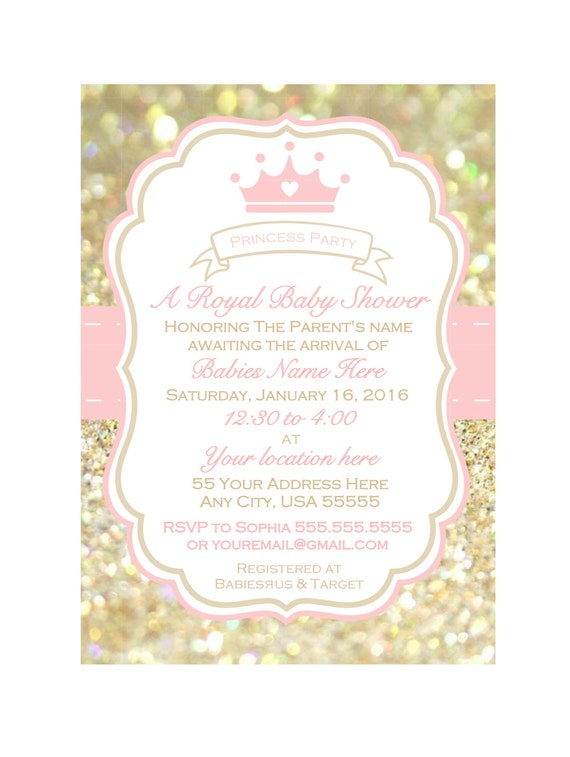 Printable girl baby shower invitation baby shower invite like this item filmwisefo Image collections