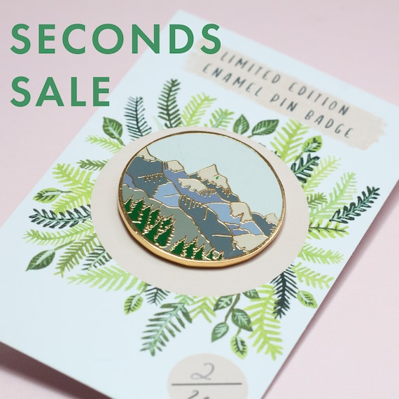 Seconds Enamel Pins Deal | Pin Badge | Hard Enamel Pin | Gold Enamel Pin | Wildlife | Nature Pin | Lapel Pin | Plant Pin | Wildlife Pin by Etsy