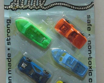Midgetoy Sail and Play Cars and Boats Set - 1974 Vintage on Damaged Card