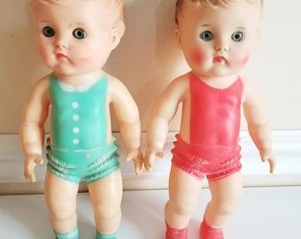 Sun Rubber  Squeak Doll, Boy Squeak Dolls, Ruth E Newton, Rubber Squeak Toy, Squeaky, Boy Doll Squeaky, Squeak Doll, 1956, 1950s