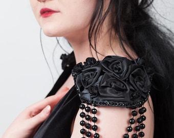 Roses, Rhinestones & Beads Epaulettes