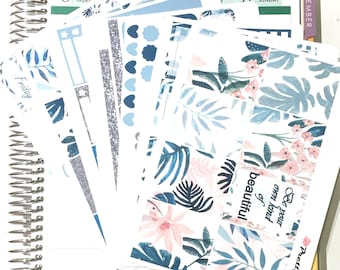Esther Erin Condren vertical planner stickers weekly stickers Rainforest matte & glossy stickers