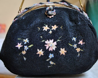 French Beaded Point De Beauvais Evening Bag - Sale!