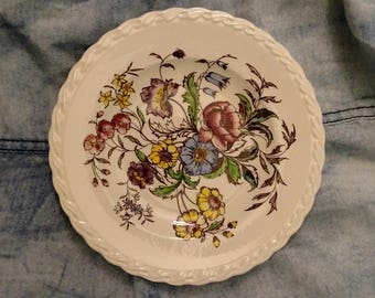 Vernon Kilns, May Flower, Bread and Butter Plate