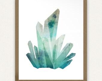 Blue Crystals #1 - Printable Art (8x10)