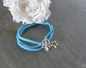 adjustable turquoise suede strap