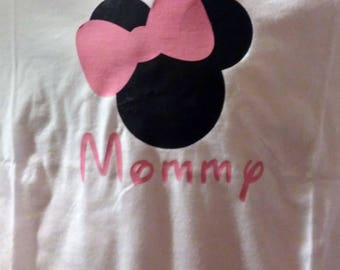 Minnie mouse mom shirt handmade