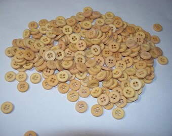 250 Small, Matching, Tan Colored Buttons, Lot SB-5 (Free US Shipping)