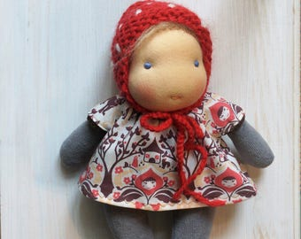 """Preoder for Xmas Doll * Children of the forest * handmade * 8"""" waldorf * organic *"""