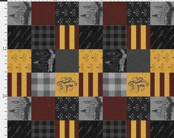"Harry Potter Patchwork Minky Blanket 36"" x 42"""