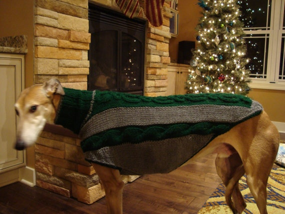 dog sweater/ greyhound sweater knitting pattern PDF file ONLY! from ...