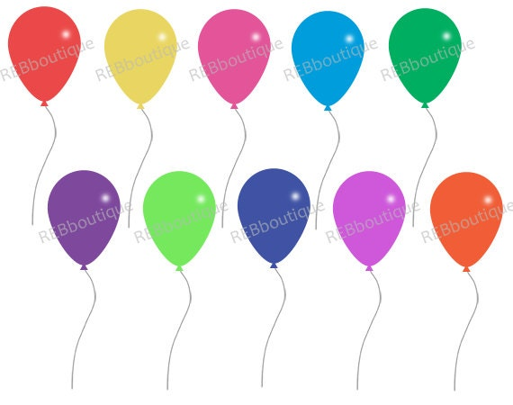 clipart balloons clip art balloons birthday party celebration rh etsystudio com free clipart of balloons and streamers clipart pictures of balloons