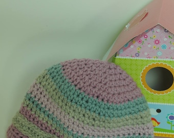 Hat with visor, natural wool baby
