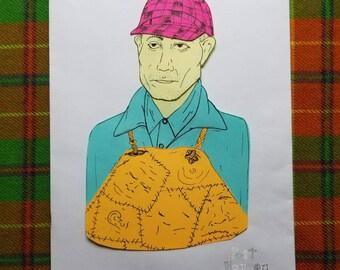 Ed Gein Post-it Portrait