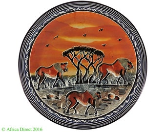 Stone Plate Kisii Lions Square Kenya Africa 12 Inch 103315