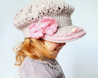 Newsboy Hat Crochet Pattern, Newsboy Crochet Hat Patern, Newsboy Cap Pattern, Newsboy Hat Pattern, Crochet Hat Pattern, Crochet Newsboy Hat