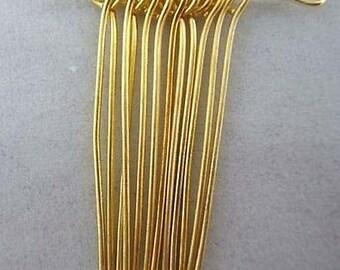 30mm Gold Plated Eye Pin-100 PCS