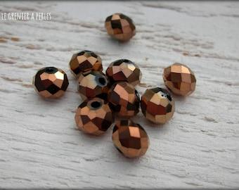 Beads ABACUS 8 mm BRONZE X 10