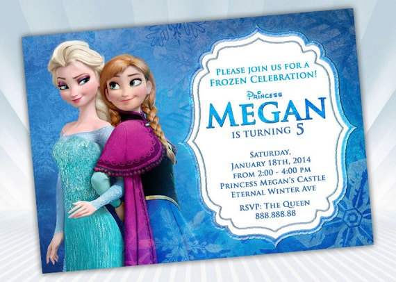 Frozen Invitation Wording Birthday Party