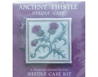 ON SALE Ancient Thistle Needle Case Counted Cross Stitch Kit Heritage Collection Made in Scotland