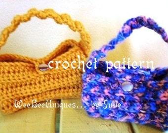 crochet pattern digital download mini barrel clutch