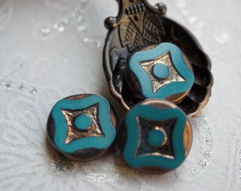 Last ones..Urban Blue Star, Czech Beads, N1638