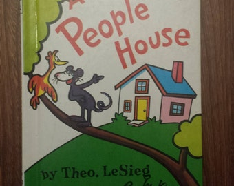 In A People House - Dr. Seuss - Children's Books - Story Books For Kids - Early Books - Vintage Children Books - Theo LeSieg - Roy McKie