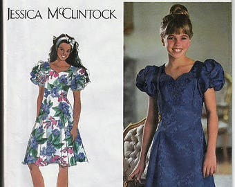 Girls' Plus Dress / Original Simplicity Uncut Sewing Pattern 9384