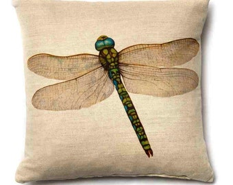 Dragonfly ~ Dragonfly Cushion ~ Dragonfly Pillow ~ Insect ~ Dragonfly Fabric ~ Dragonfly Linen ~ Cushions