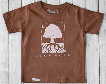 Kids Tshirt, Children's Clothing, Tree T-shirt, Organic Kids T shirt, Green Tshirt, Eco Friendly Kids Clothes,  Kids Shirt, Toddler Shirt