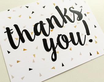 Thanks You! Note Card / Greeting Card / Stationery