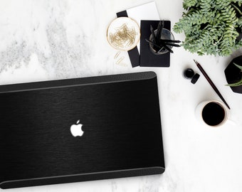 Brushed Black and Black Chrome with Black Leather Edge . Macbook Pro 13 Case Macbook Air Case Laptop Case Macbook Case . Platinum