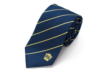 Pennsylvania Tie - Inspired by the Pennsylvania Flag with Personalized Tag. LDS Missionary. Husband Gift, Missionary Gift. Fathers Day Gift.