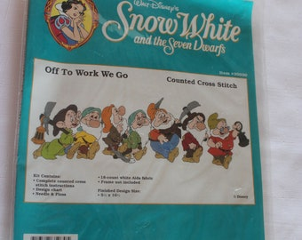 Snow White and the Seven Dwarfs Counted Cross Stitch Kit 35030  Off To Work We Go Sealed