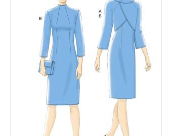 Vogue Pattern V9266 Misses' Lined Raglan-Sleeve Jacket and Funnel-Neck Dress
