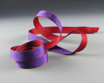 "5/8"" and 1.25"" RED HAT SOCIETY Ribbon Purple Red Wholesale"