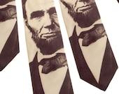 Civil War, Abraham Lincoln Tie, History Buff, Black Lives Matter, Political, Men's Tie, Gift for Him, American History, Teacher Gift