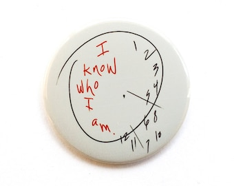"Hannibal Button | Will's Clock Button | Will Graham | ""I Know who I am"" 2"" Pinback Button"