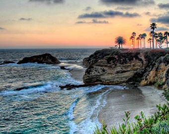 Laguna Beach - Goff Cove Sunset 1 - 11x14 Fine Art Photographic Print on Metallic Paper